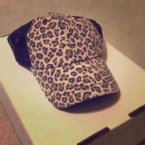 Boutique leopard trucker hat